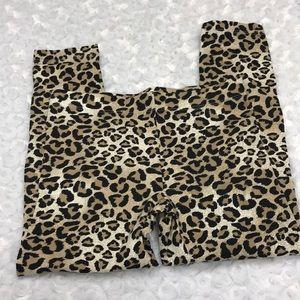 Cheetah print leggings size small 6-6x